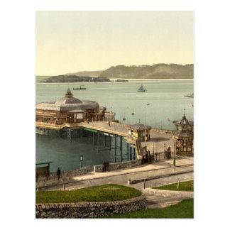 Cartão Postal O cais, com ilha de Drake, Plymouth, Inglaterra
