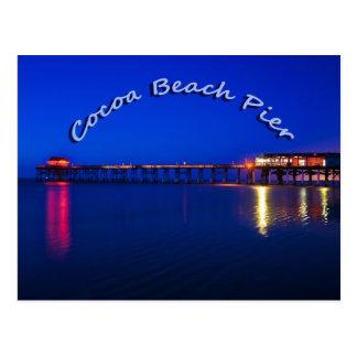 Cartão Postal O cais da praia do cacau, praia do cacau, Florida,