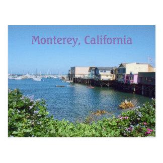 Cartão Postal O cais do pescador idoso, Monterey, Califórnia