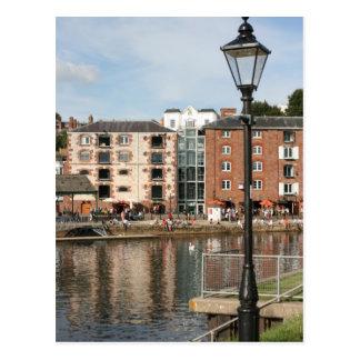 Cartão Postal O cais, Exeter, Devon, Reino Unido