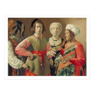 Cartão Postal O caixa de fortuna, c.1630 (óleo em canvas) (veja