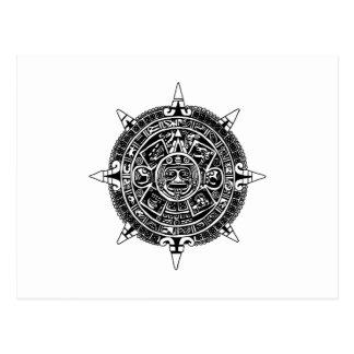 Cartão Postal O calendário do asteca