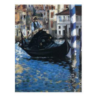 Cartão Postal O canal grande de Veneza por Edouard Manet