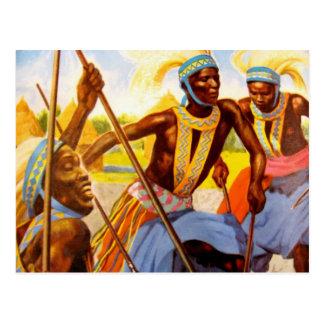 Cartão Postal O cantor do tribo