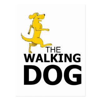 Cartão Postal O cão de passeio