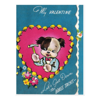 Cartão Postal O cão dos namorados deixou-nos obter para baixo às