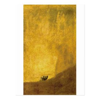 Cartão Postal O cão, por Francisco de Goya