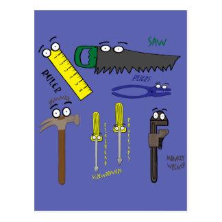 Cartão Postal O carpinteiro utiliza ferramentas a arte lunática