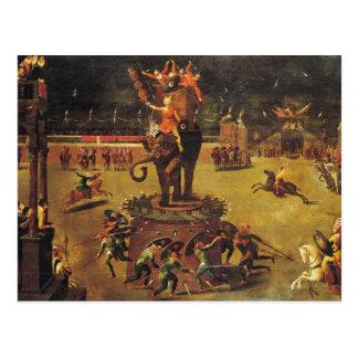 Cartão Postal O carrossel do elefante