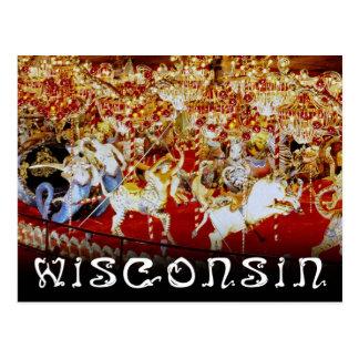 Cartão Postal O carrossel o maior do mundo, Wisconsin
