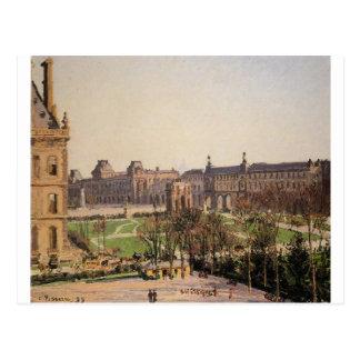 Cartão Postal O carrossel, tarde por Camille Pissarro
