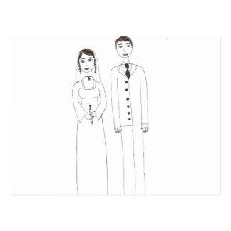 Cartão Postal O casamento clássico