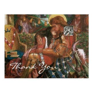 Cartão Postal O casamento de Rossetti de St George e de princesa