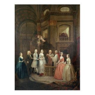 Cartão Postal O casamento de Stephen Beckingham e de Mary Cox