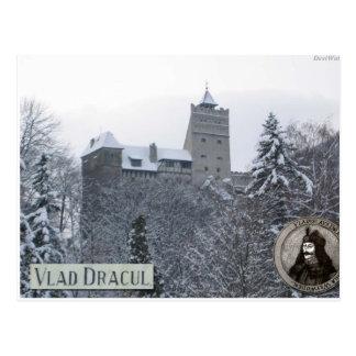 Cartão Postal O castelo de Dracula, foto do vintage
