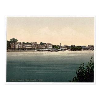 Cartão Postal O castelo de duque grande, Biebrich, o Rhine,