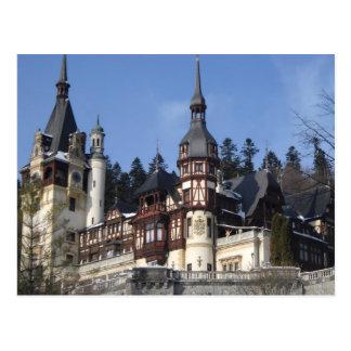 Cartão Postal o castelo de Peles