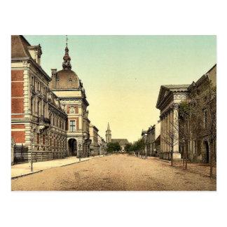 Cartão Postal O castelo do príncipe e a rua dos Cavalier,