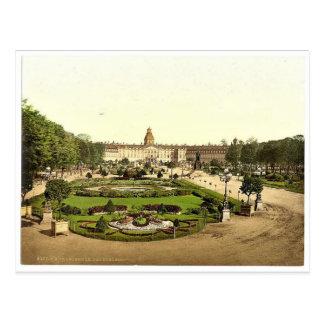 Cartão Postal O castelo, Karlsruhe, Baden, Alemanha Photoch raro