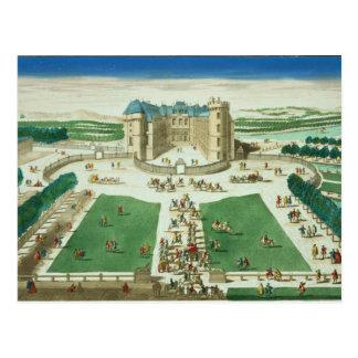Cartão Postal O castelo Rambouillet, gravado por Antoine Aveli