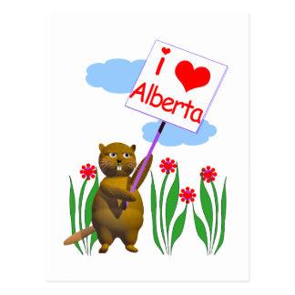 Cartão Postal O castor canadense ama Alberta