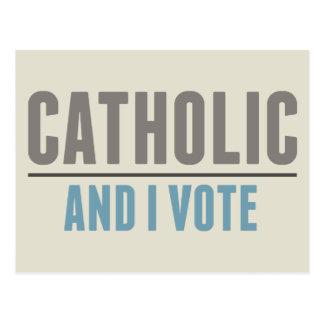 Cartão Postal O católico e eu votamos