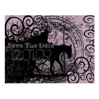 Cartão Postal O cavalo ocidental com redemoinhos salvar os