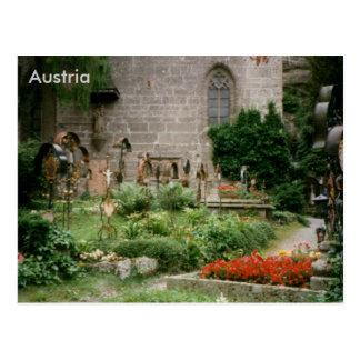 Cartão Postal O cemitério de St Peter, Salzburg, Áustria