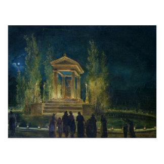 Cartão Postal O Cenotaph de Jean-jacques Rousseau