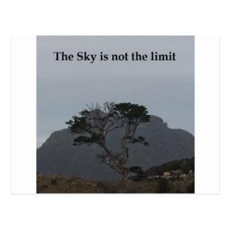 Cartão Postal O céu não é o limite