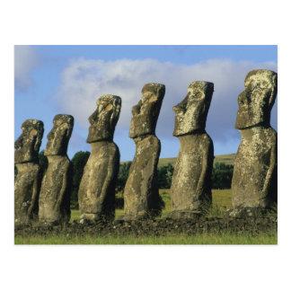 Cartão Postal O Chile, Ilha de Páscoa, Rapa Nui, Ahu Akivi