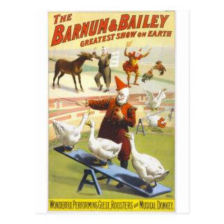 Cartão Postal O circo de Barnum & de Bailey
