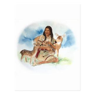 Cartão Postal O clã dos cervos sere de mãe com suas jovens