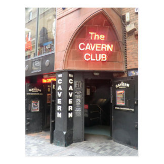 Cartão Postal O clube da caverna na rua do Mathew de Liverpool