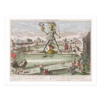 Cartão Postal O colosso do Rodes, segunda maravilha do mundo
