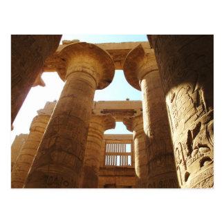 Cartão Postal O complexo do templo de Karnak em Thebes, Egipto