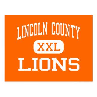 Cartão Postal O Condado de Lincoln - leões - alto - Eureka