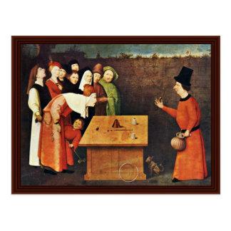 Cartão Postal O Conjurer. Por Hieronymus Bosch