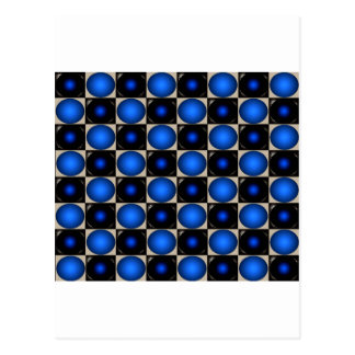 Cartão Postal O conselho de xadrez azul CricketDiane da ilusão