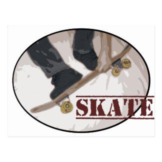 Cartão Postal O conselho do skate redondo