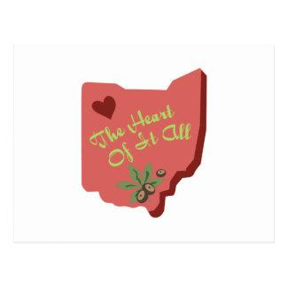 Cartão Postal O coração de todo de