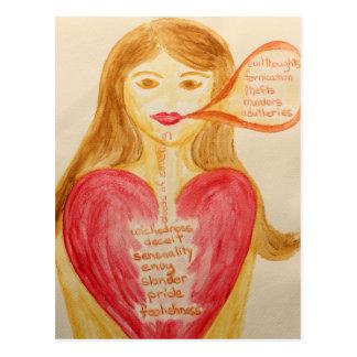 Cartão Postal O coração precisa de curar