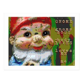 Cartão Postal O corpo do gnomo ama-me