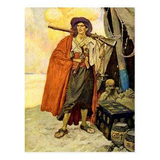 Cartão Postal O corsário - arte do pirata