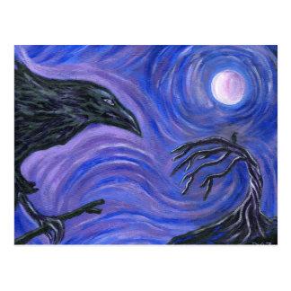 Cartão Postal O corvo