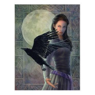 Cartão Postal O corvo celta