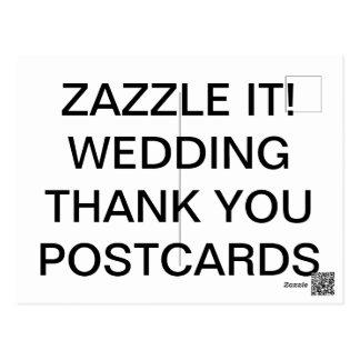 Cartão Postal O costume personalizou o obrigado do casamento