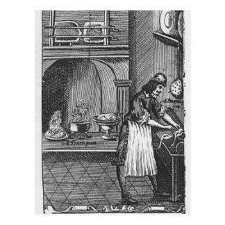 """Cartão Postal """"O cozinheiro francês"""" pelo La Varenne"""