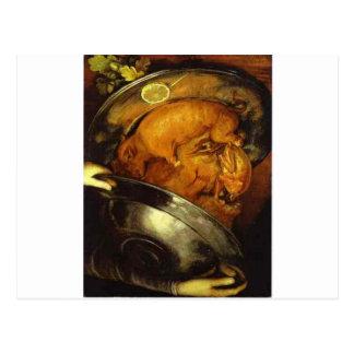 Cartão Postal O cozinheiro por Giuseppe Arcimboldo