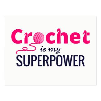 Cartão Postal O Crochet é minha superpotência no rosa